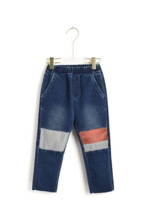 Contrasting Knees Boy's Jeans